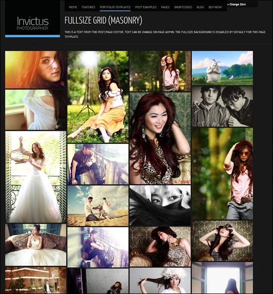 WordPress Photography Themes Reviews – Invictus WordPress Photography Theme