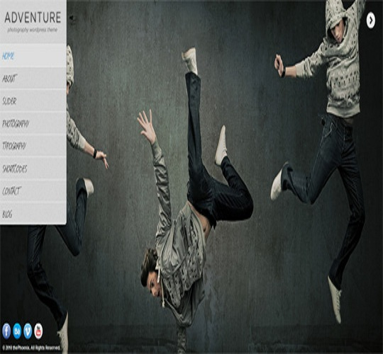 WordPress Photography Themes Reviews – Adventure Unique WordPress Photography Them
