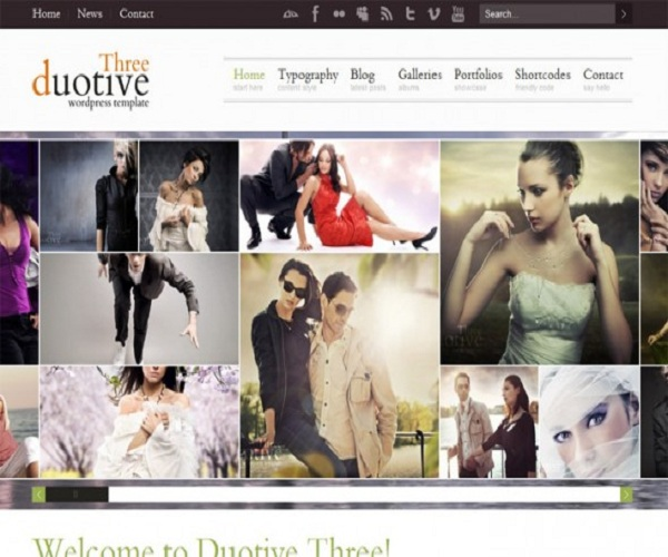 WordPress Photography Themes Reviews - Duotive Three WordPress Photography Theme