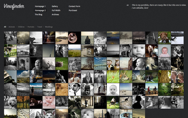 WordPress Photography Themes Reviews – Viewfinder Gallery WordPress Photography  Theme