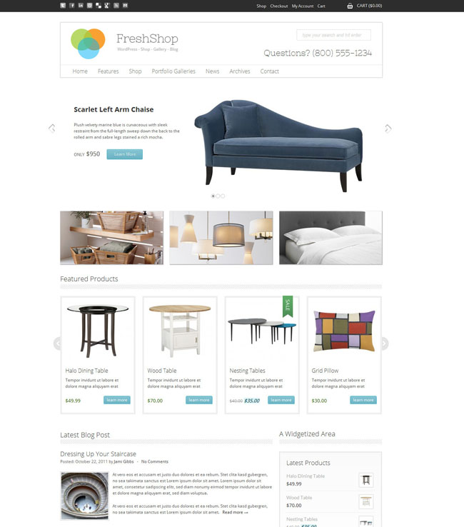 WordPress eCommerce Themes Review – Fresh Shop WordPress eCommerce Theme
